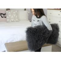 Real Super Soft Plush Mongolian Sheepskin Cushion Covers Warm 16x16 Inches