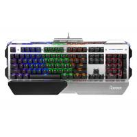 Buy cheap 104 Keys USB Wired Gaming Keyboard Colorful Backlit Metal Panel With Palm-rest from wholesalers