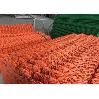 "China Chain Link Fence mesh 2.5"" x 2.5"" PVC and PE coated Orange Color Diameter 8gauge/4.00mm wholesale"