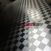 China Galvanzied / Chrome Surface Stainless Steel Press Plates With Leather Pattern wholesale