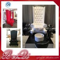 China china factory wholesale Popular high back throne pedicure chair spa luxury white color wholesale