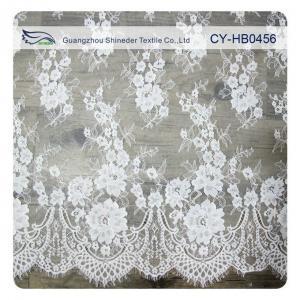 China Wedding Floral Eyelash Lace Trim , Eyelash Lace Fabric Wholesale UL Tested wholesale