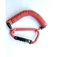 China 3.0mm PVC Coating Orange 3-Digit Combination Mini Cable Lock for Security wholesale