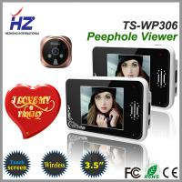 Quality remote unlocking 3.5''touch screen high resolution 2.4GHz wireless door viewer peephole for sale