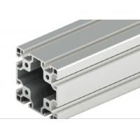 China Decorations T - Slot Aluminum Extrusion , Silver Anodized T Slot Extruded Aluminum wholesale