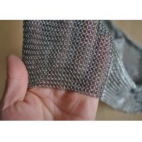 China 3.81mm Ring Dia 304L Stainless Steel Chainmail Scrubber Welded Length Customized wholesale