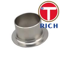 China 304 316l Stainless Steel Pipe Fitting Tube End Silver Color With Polishing Surface wholesale