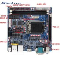 China LGA115 Industrial PC Motherboard H110 Chipset , 2 RJ45 LAN , 12 COM Ports wholesale