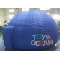 Quality Blue Commercial Used Advertising Dome Projection Tent With Tunnel , Inflatable for sale