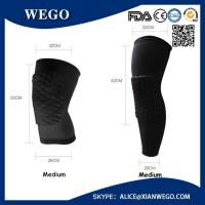 China Practical Honeycomb Pad Crashproof Basketball Protect Gear Long Leg Knee Sleeve wholesale