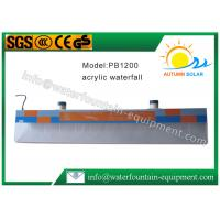China Plastic Water Fountain Equipment Acrylic Water Descent With 12W Underwater Light wholesale