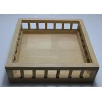 China Custom Wood Serving Tray With Handle , Pine Wood Personalized Wooden Beer Tray wholesale
