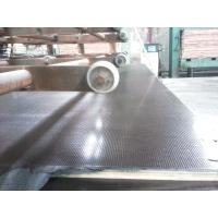 China Construction Brown Film Faced Shuttering Plywood , Anti-Skidding Plywood With Poplar Core wholesale