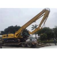 China Long Boom EX450 Excavator Mounted Vibratory Hammer tube pile / H beams pile driving wholesale
