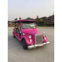 China Four Seats Electric Vintage Cars Pink Classic Car 60-80 Km Driving Range wholesale
