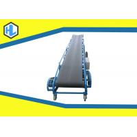 China Blue Color 5 - 20m Length Straight Belt Conveyor Machine 10 To 26° Dip Angle on sale