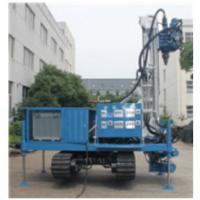China Blue Self Walking Water Well Drilling Rig , Water Well Drilling Equipment wholesale