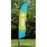 China Waterproof Feather Beach Flag Banner , Outdoor Event Flags Knitted Fabric wholesale