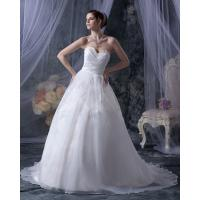 China Fashion Heart Neckline Open back Appliques wedding dress gowns for Bridal , Girls , Womens wholesale
