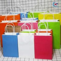 China luxury silver stamping gift apparel paper packaging bag with ribbon flat rope wholesale