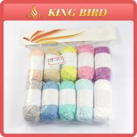 China Silk crochet Cotton NM13.5-4 Sewing Thread Colorful For Coats on sale