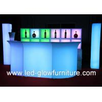 China Indoor / outdoor LED Glow Furniture Bar Counter with Injection Molding Technology wholesale