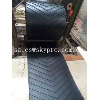 China 400-2500mm Width Chevron rubber conveyor belt for inclination conveying wholesale