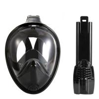 Quality Black Vision Full Face Underwater Mask Eco Friendly With Liquid Silicone for sale