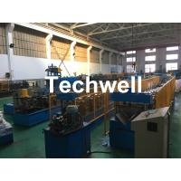 China Steel Galvanized Ridge Cap Roll Forming Machine With Hydraulic Cutting For Making Roof Panels wholesale
