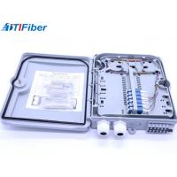 China Wall Mounted Fiber Optic Distribution Box 1X16 With SC Adapter Splitter / Pigtails wholesale