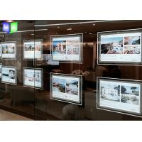 China Ultra Slim Poster Frame Light Box Acrylic LED Window Displays For Estate Agents wholesale