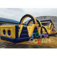 Quality 18m Length Giant Adult Inflatable Obstacle Course Game For Teambuilding Sport for sale