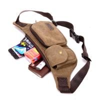China 0.17 Kg Climbing Tactical Men Running Waist Pack With Casual Retro Canvas wholesale