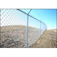 China Black PVC Coated chain link fence mesh Panels/Cyclone Fence 1.8m*10m*50mm*50mm wholesale