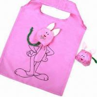 China Polyester bags, fashion rabbit shape, for shopping/promotion, customized colors/sizes are accepted wholesale
