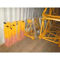 China Q345 Steel Angle Fixing Brackets Tower Crane Spare Parts Yellow Color Resuable wholesale