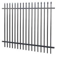 China Galvanized Steel Tubular Fence Stain Yellow Powder Interpon 80 Microns Thick 1820mm X 3000mm Width wholesale