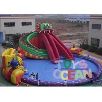 China Dragon Amusement Inflatable Land Water Park For Kids Adults Security Fun wholesale