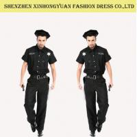 China Custom Police Man Halloween Costume Police Officer Uniform For Adults on sale