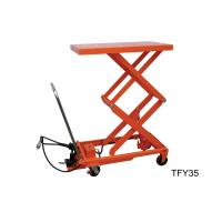 China Double Scissor Pneumatic Lift Table 1000kg Load Capacity For Repairing And Maintenance wholesale