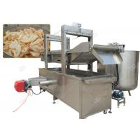 China Continuous Pork Rinds Chicken Deep Fryer Machine Commercial Gas Heating Energy on sale