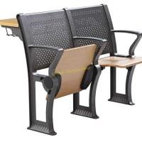 China Flame Retardant College Lecture Hall Chairs Study Seating With Armrest / Iron Leg wholesale
