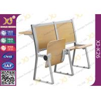 China Lecture Hall Seats Attached School Desks And Chair Wooden Folding Furniture wholesale