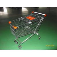 150 L European Style Shopping Trolley Carts Anti Theft For Supermarket