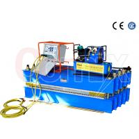 China Steel Cord Conveyor Belt Vulcanizing Press Machine , Blue Automatic Vulcanizing Machine on sale