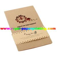 China customize die cutting and colorful printed paper cards/greeting cards wholesale