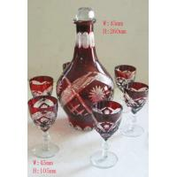China decal, frosty, hot stamping engrave Stem Wine Glass gift Sets / Home Glassware on sale