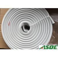 China 1 1/2 Inch Single Jacket Mill Discharge Hose With Brass NST Couplings on sale
