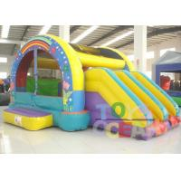 China PVC Gaint Inflatable Bouncer Playground Combo With Two Slide For Kids Outdoor Play wholesale