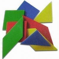 China Hard Plastic Tangram with Four Colors, Measures 10 x 10 x 0.2cm wholesale